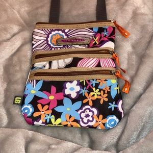 Old lily bloom crossbody bag